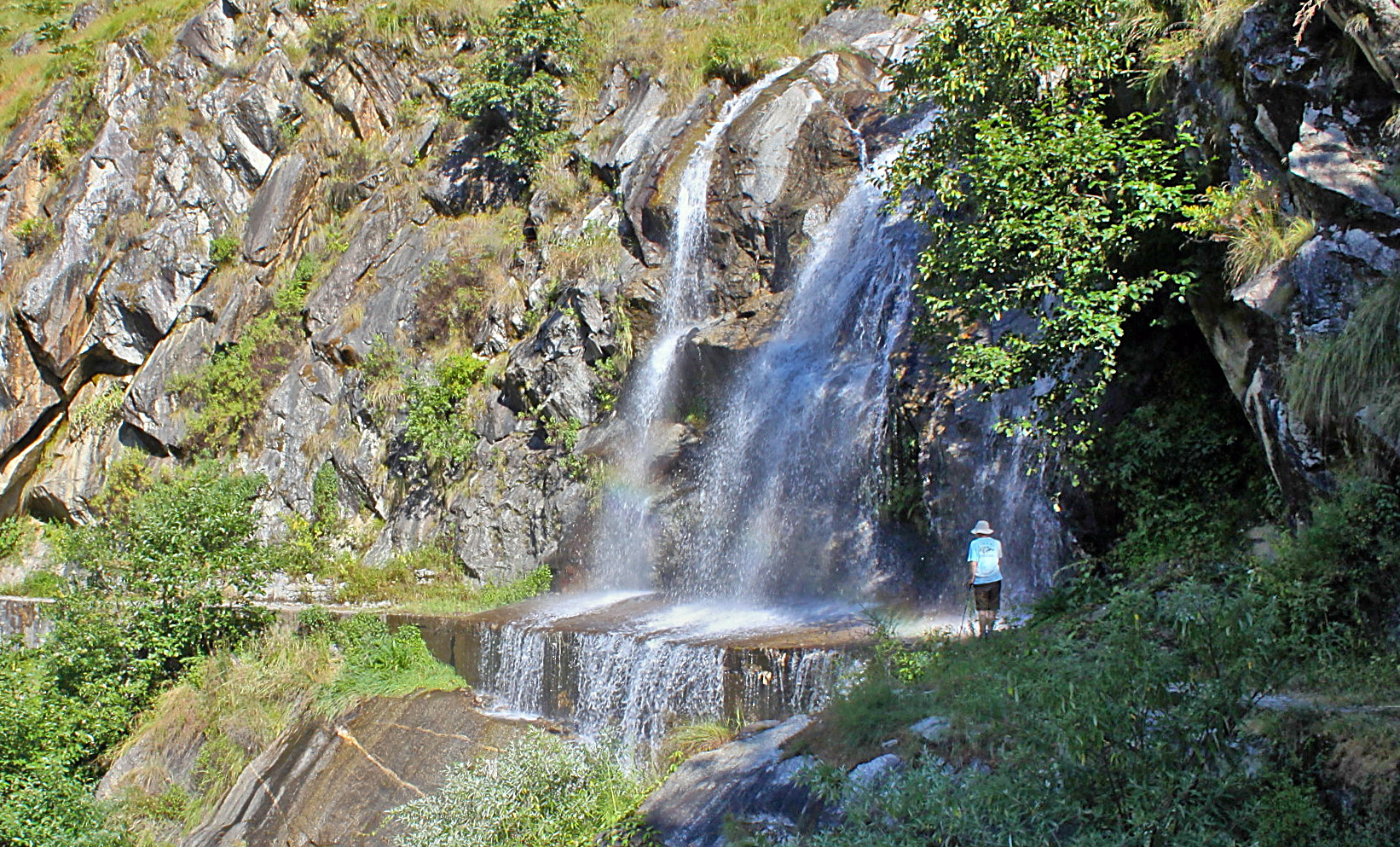 Waterfall on path to Tejam, 2014